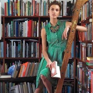 ANTHROPOLOGIE Brynn Shirt Dress Polka Dots {Y24}